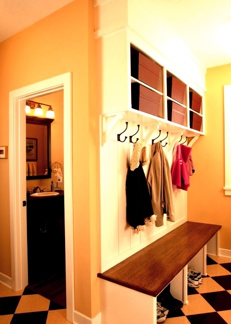 Spacious Mudroom With Built In Bench